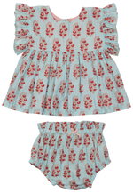 Kit 2-Piece Set, Milky Blue Vintage Floral