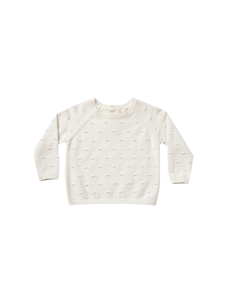 Bailey Knit Sweater, Ivory Quincy Mae