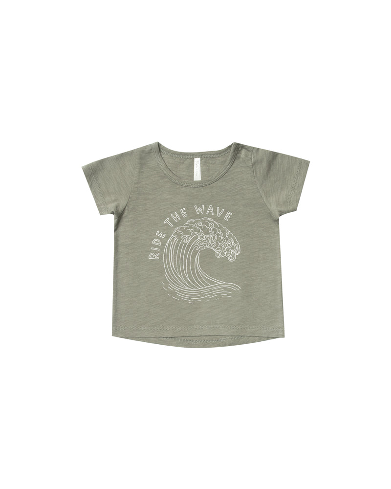 Ride the Wave Basic Tee, Olive