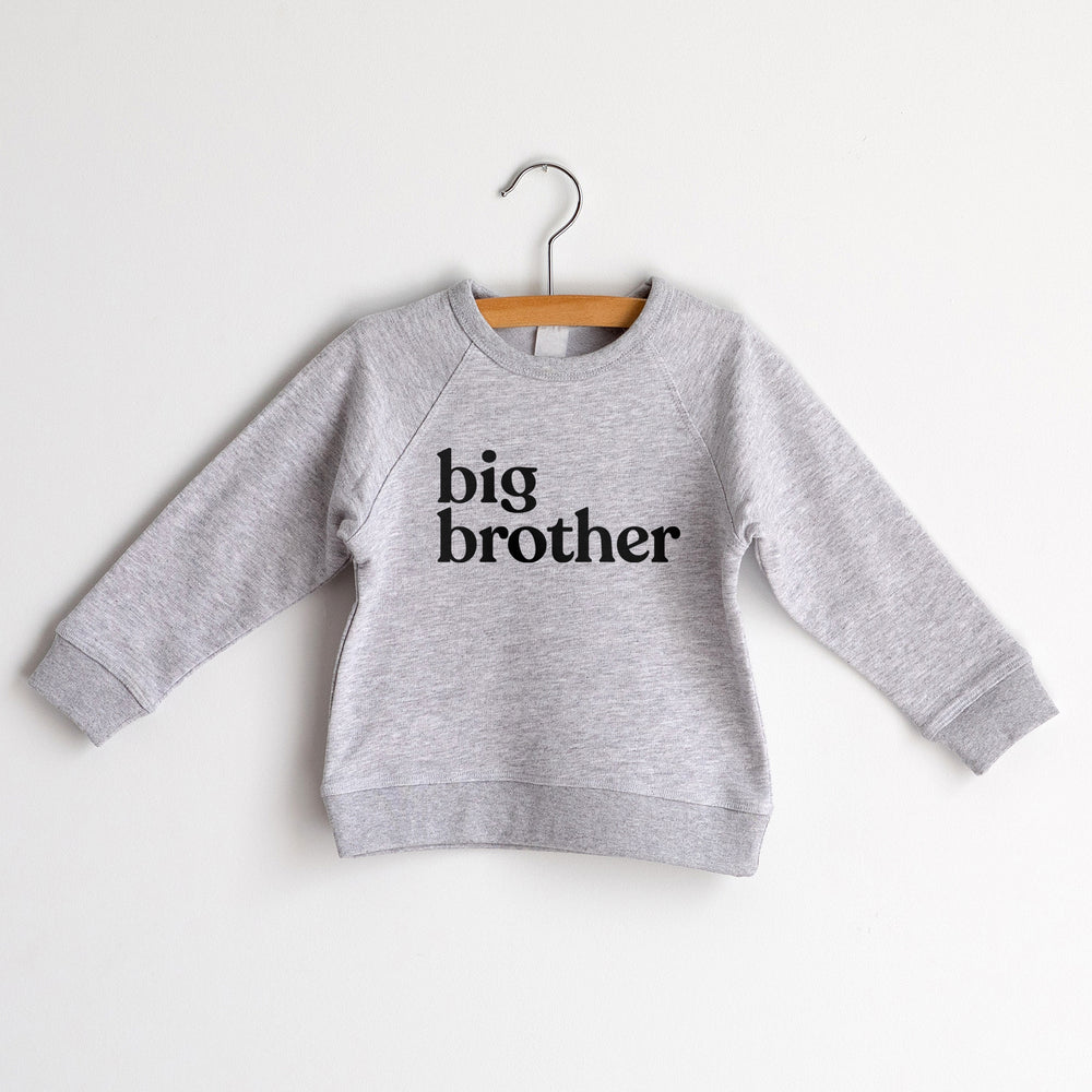 Big Brother Sweatshirt, Heather Grey with Black Ink