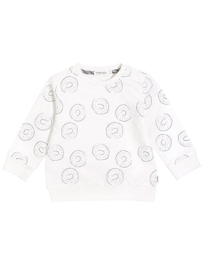 Miles Baby Bagel Shop Knit Top, Off White