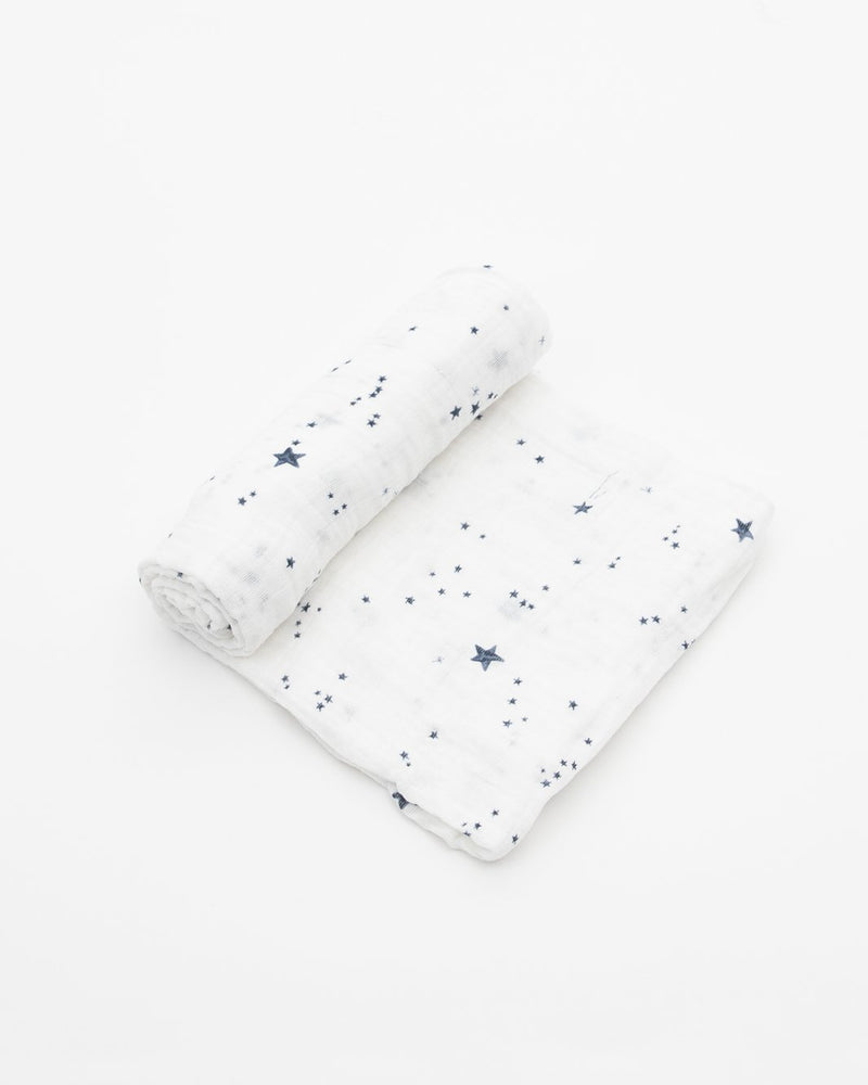 Cotton Muslin Swaddle, Shooting Stars