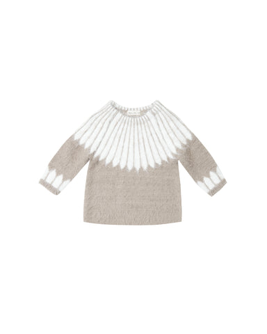 Chalet Sweater in Grey and Ivory