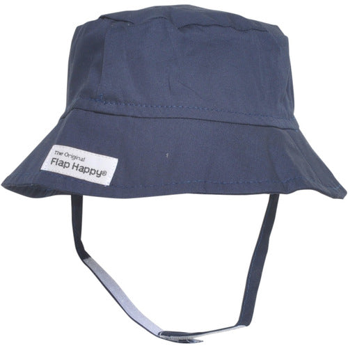 UPF 50+ Bucket Hat | Navy Flap Happy