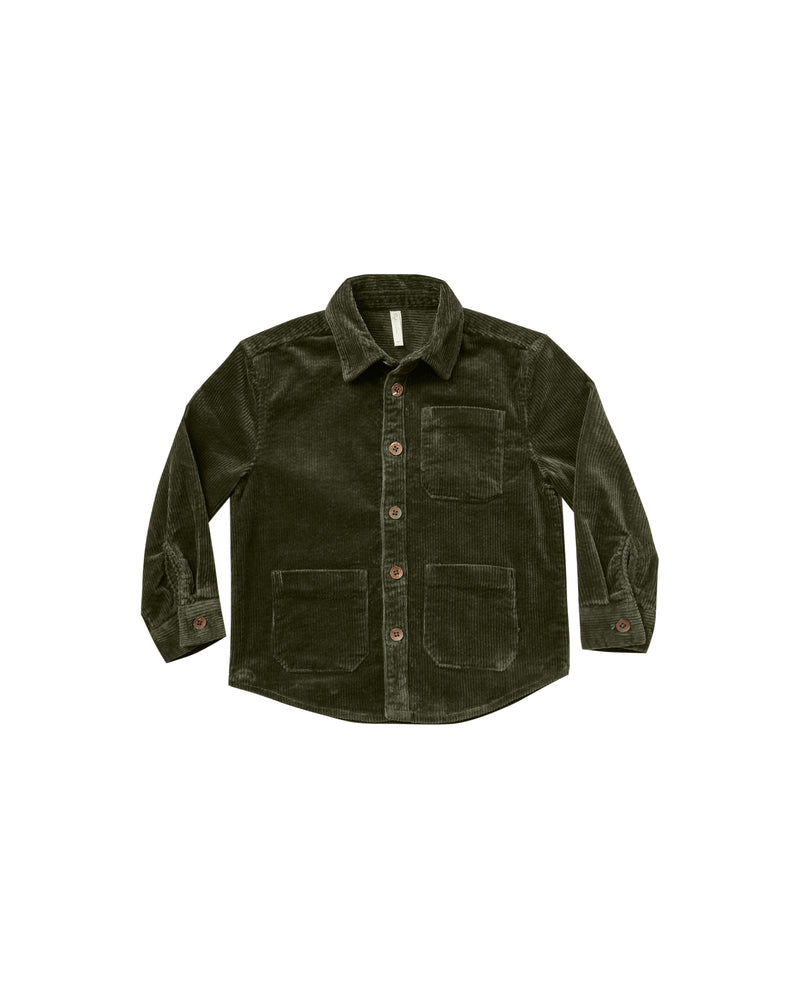 Corduroy Collared Shirt, Forest