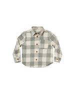 Flannel Collared Shirt, Forest