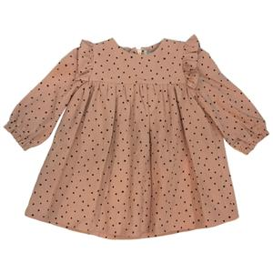 Yell-Oh Stars Frilled Dress, Dusty Pink