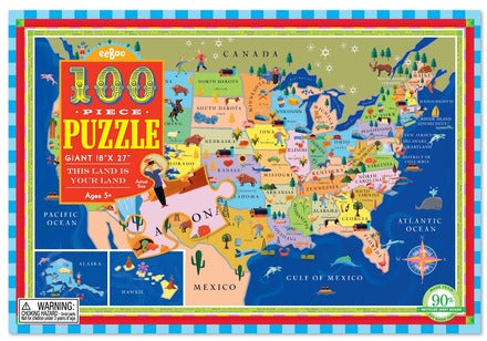 This Land is Your Land, 100 Piece USA Puzzle