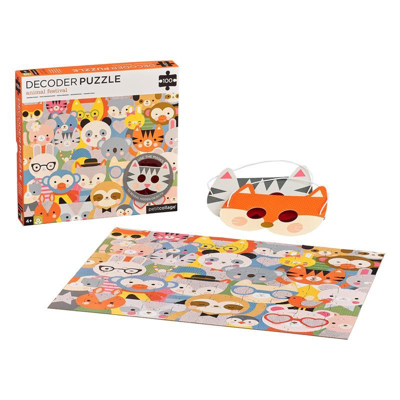 Animal Festival Decoder Puzzle, 100 Pieces