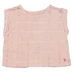 Finley Top, Cloud Pink with Rose Gold Tattersall