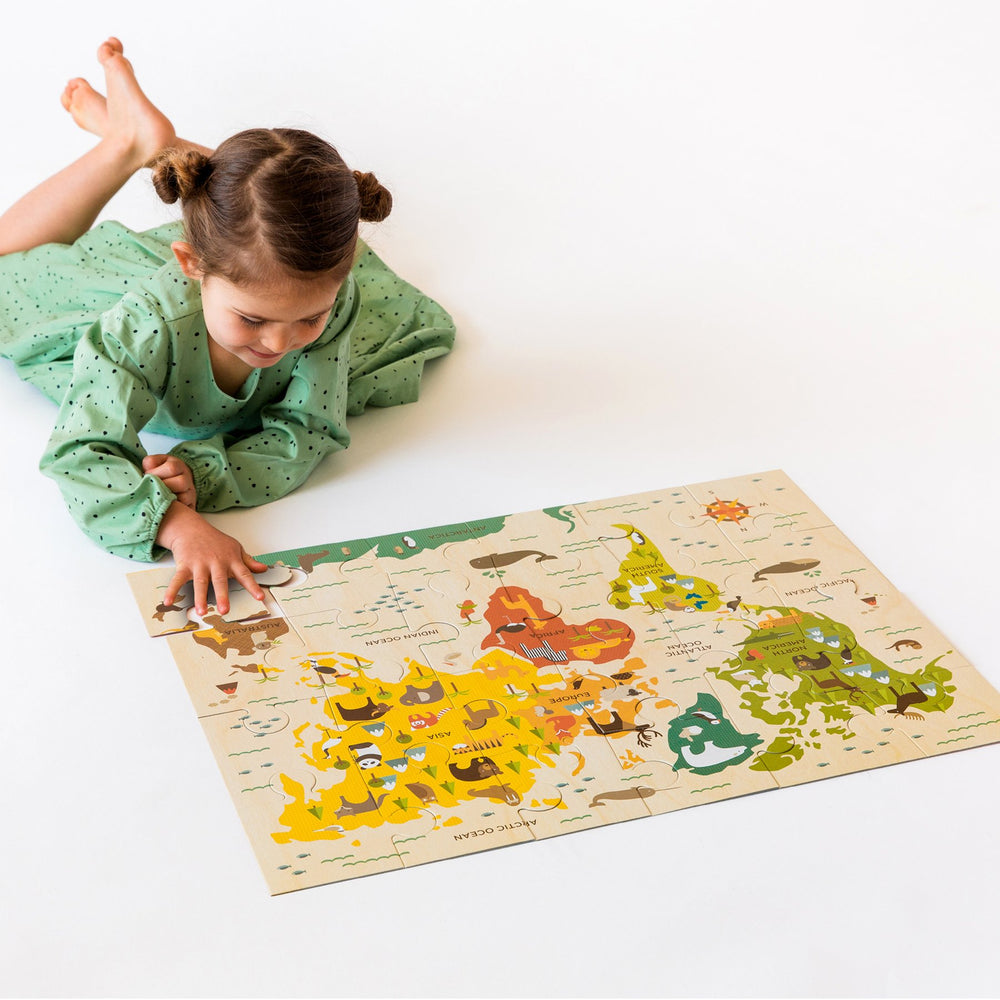 World Map Floor Puzzle, 24 Pieces