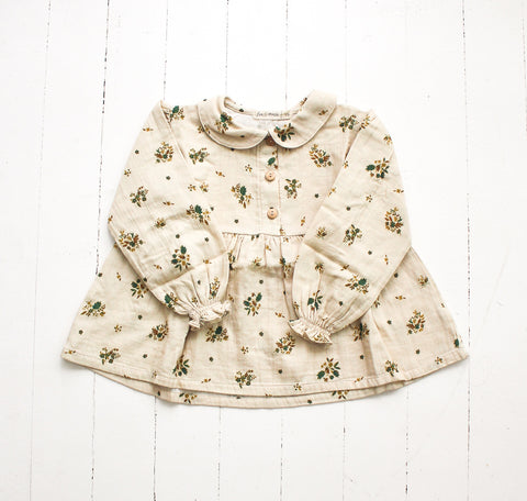 Collar Blouse, Floral