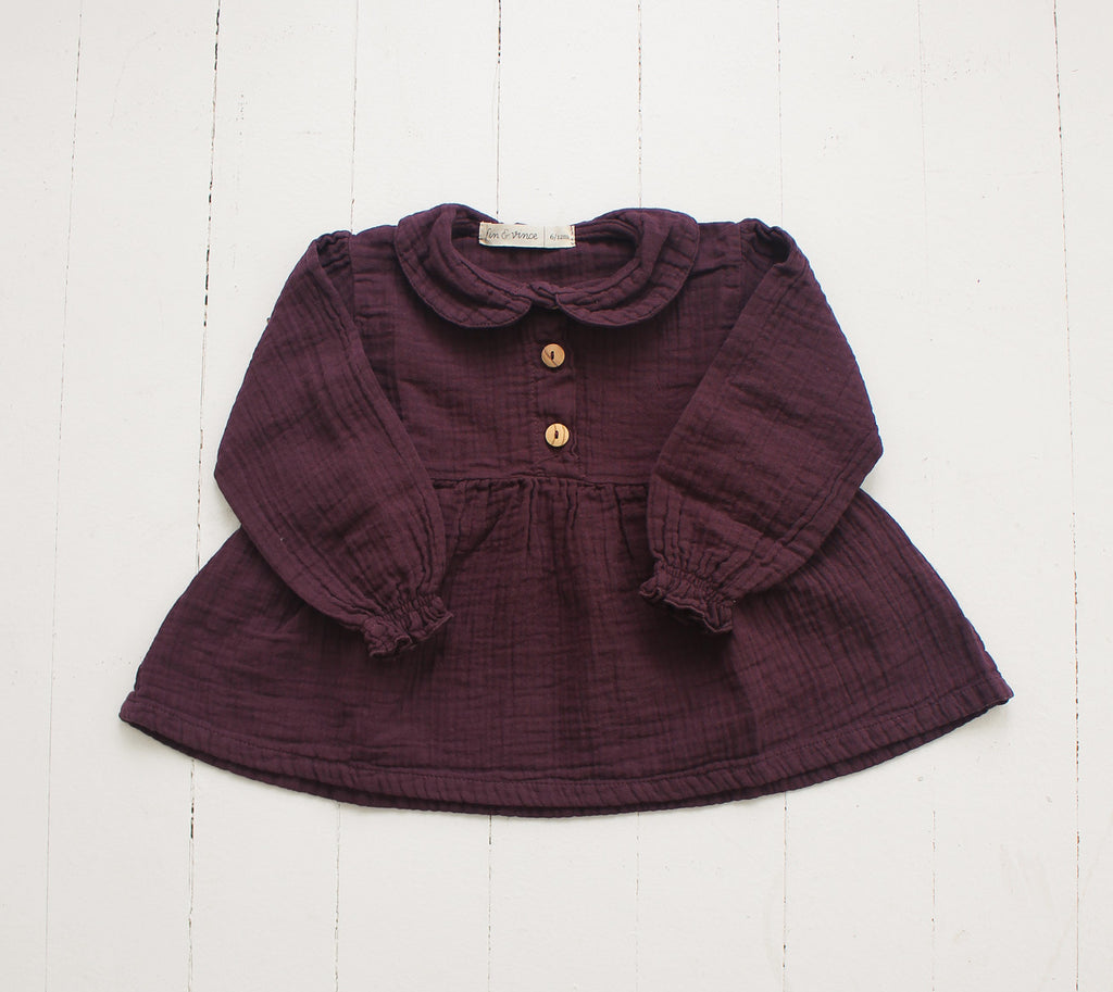 Collar Blouse, Eggplant