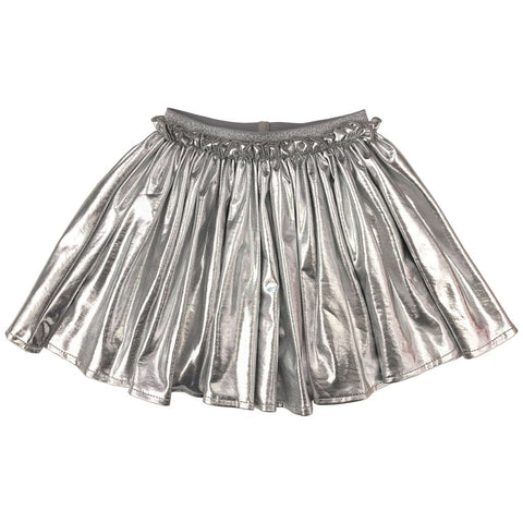 Gianna Skirt, Silver Lame