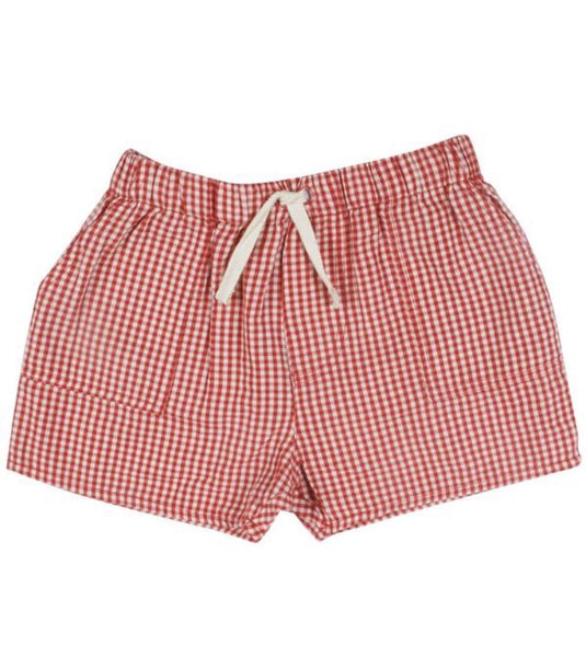Baby Sean Short, Red Gingham