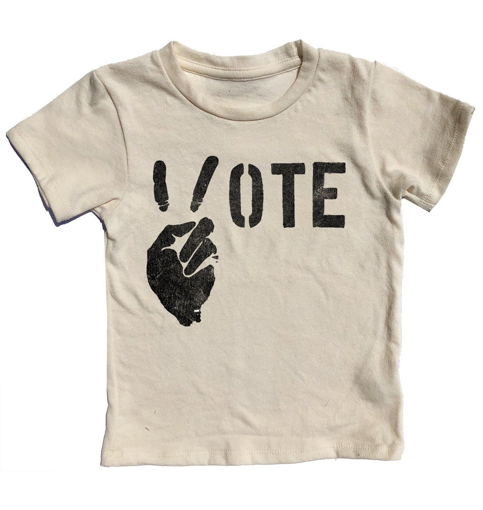 Vote for Peace Short Sleeve Tee, Cream Soda