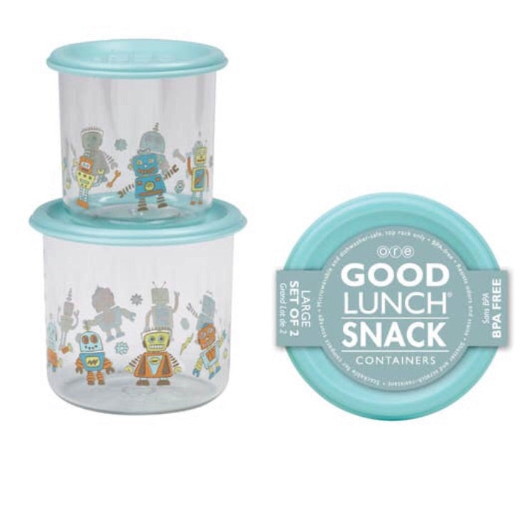 Good Lunch Snack Containers - Set of Two, Robot Ore Originals