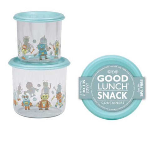 Good Lunch Snack Containers - Set of Two, Robot