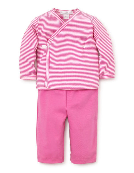 Kissy Essentials Pant Set with Long Sleeve Cross Tee, Fuschia