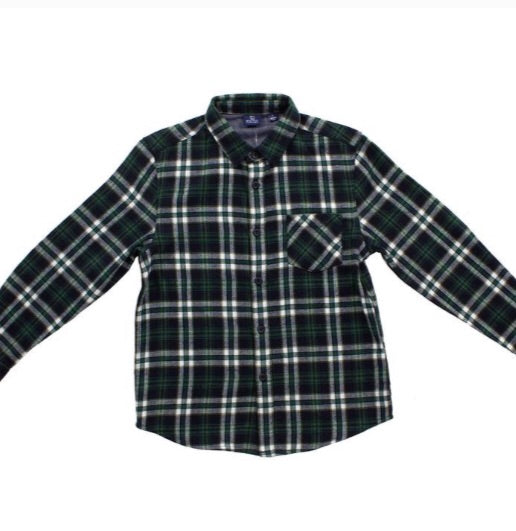 Forest Flannel Button Down Bear Camp