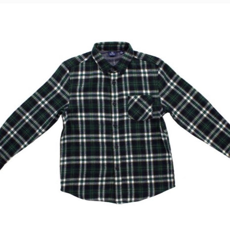 Forest Flannel Button Down