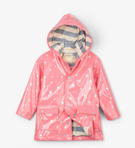 Metallic Hearts Rain Jacket