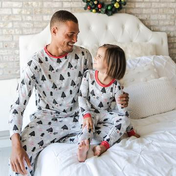 Christmas Trees Two-Piece Men's Bamboo Pajama Set