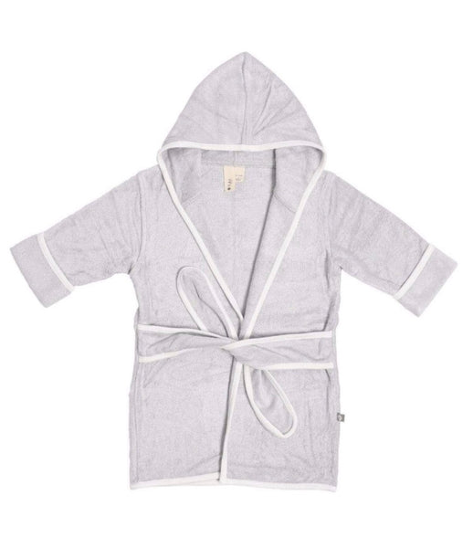 Toddler Bath Robe in Storm with Cloud Trim