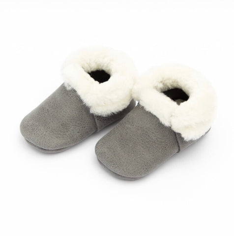 Blue Spruce Shearling Moccasins
