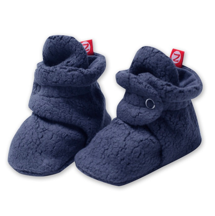 Cozie Fleece Bootie, Denim Navy Zutano