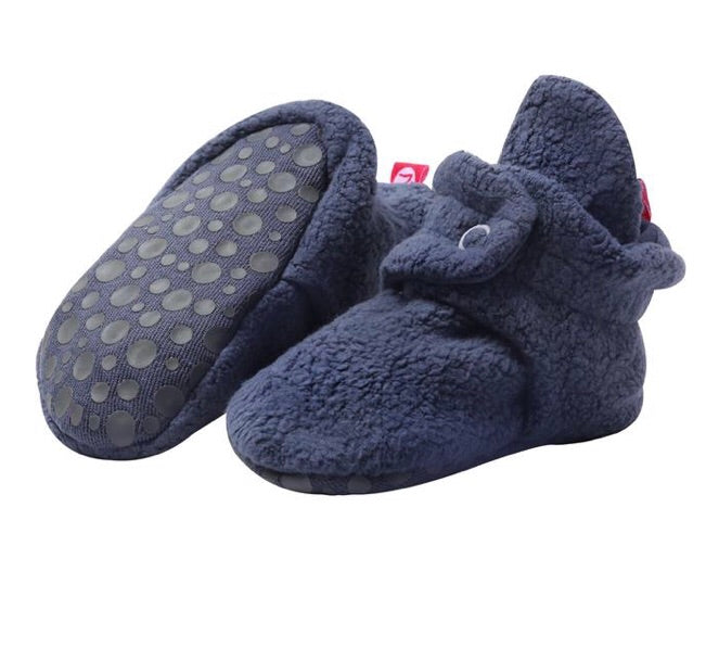 Cozie Fleece Gripper Bootie, Denim Navy