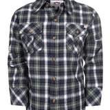 Flannel Shirt, Olive and Indigo Plaid Appaman
