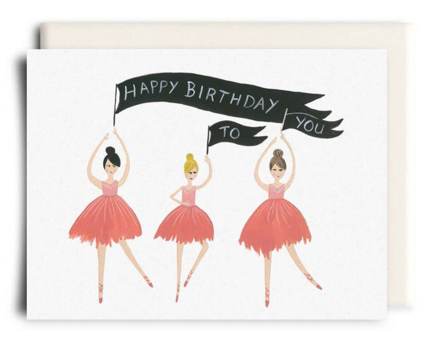 Happy Birthday Ballerinas Card Inkwell