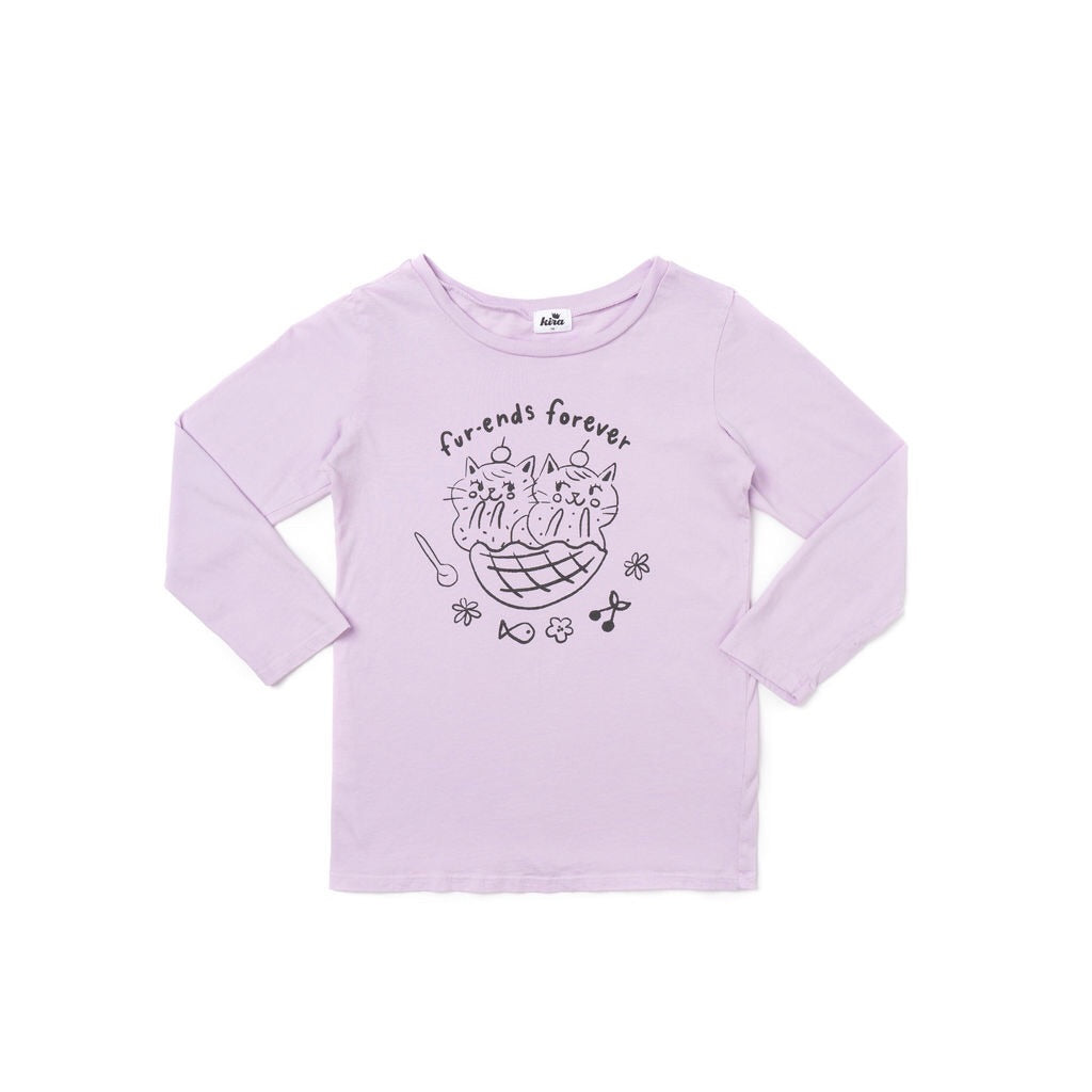 Furends Graphic Long Sleeve T-Shirt, Pastel Violet