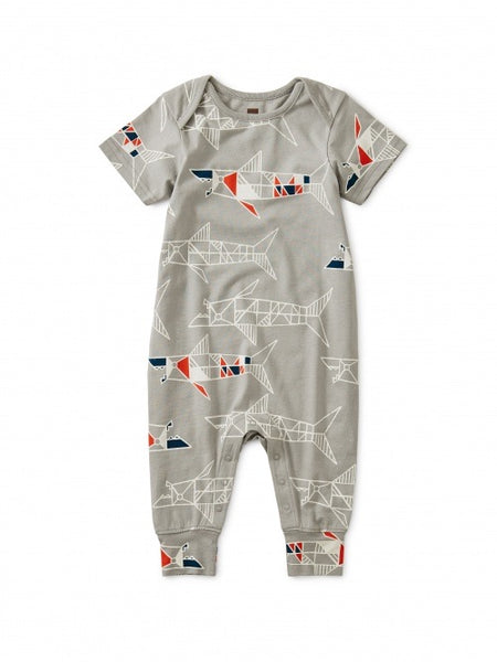 Shark Short Sleeve Romper, Baby Shark