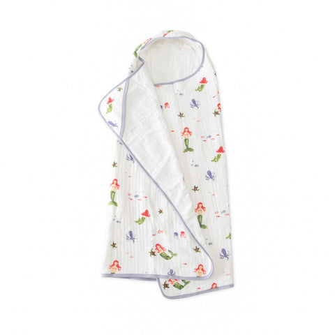 Big Kid Hooded Towel, Mermaid