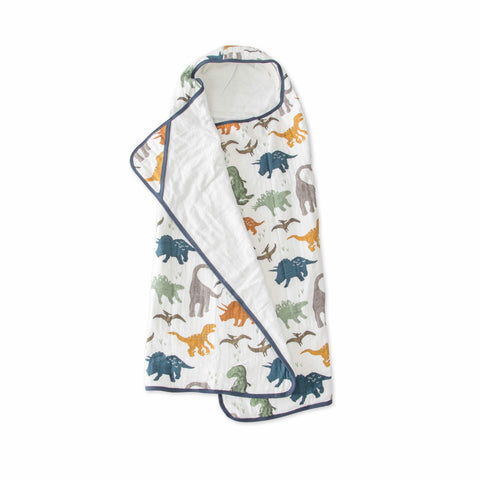 Big Kid Hooded Towel, Dino Friends