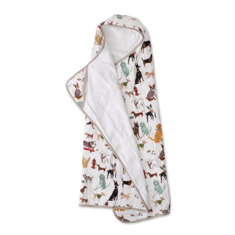 Big Kid Hooded Towel, Woof