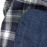 Flannel Shirt, Olive and Indigo Plaid