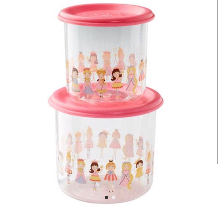 Good Lunch Snack Containers - Set of Two, Princess