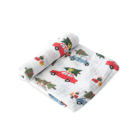 Cotton Muslin Swaddle, Holiday Haul