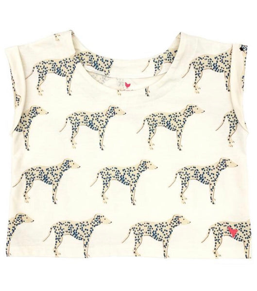 Finley Top, Antique White Dalmatian