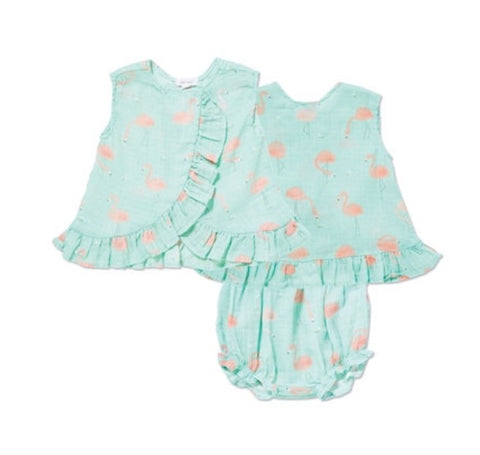 Flamingo Top & Bloomer