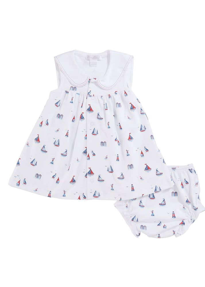 Seaside Surprise 2-Piece Dress & Bloomer Set