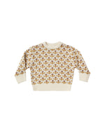Flower Stitch Knit Pullover