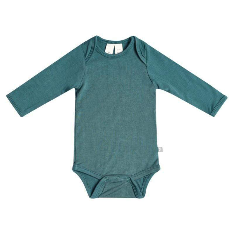 Long Sleeve Bodysuit in Emerald