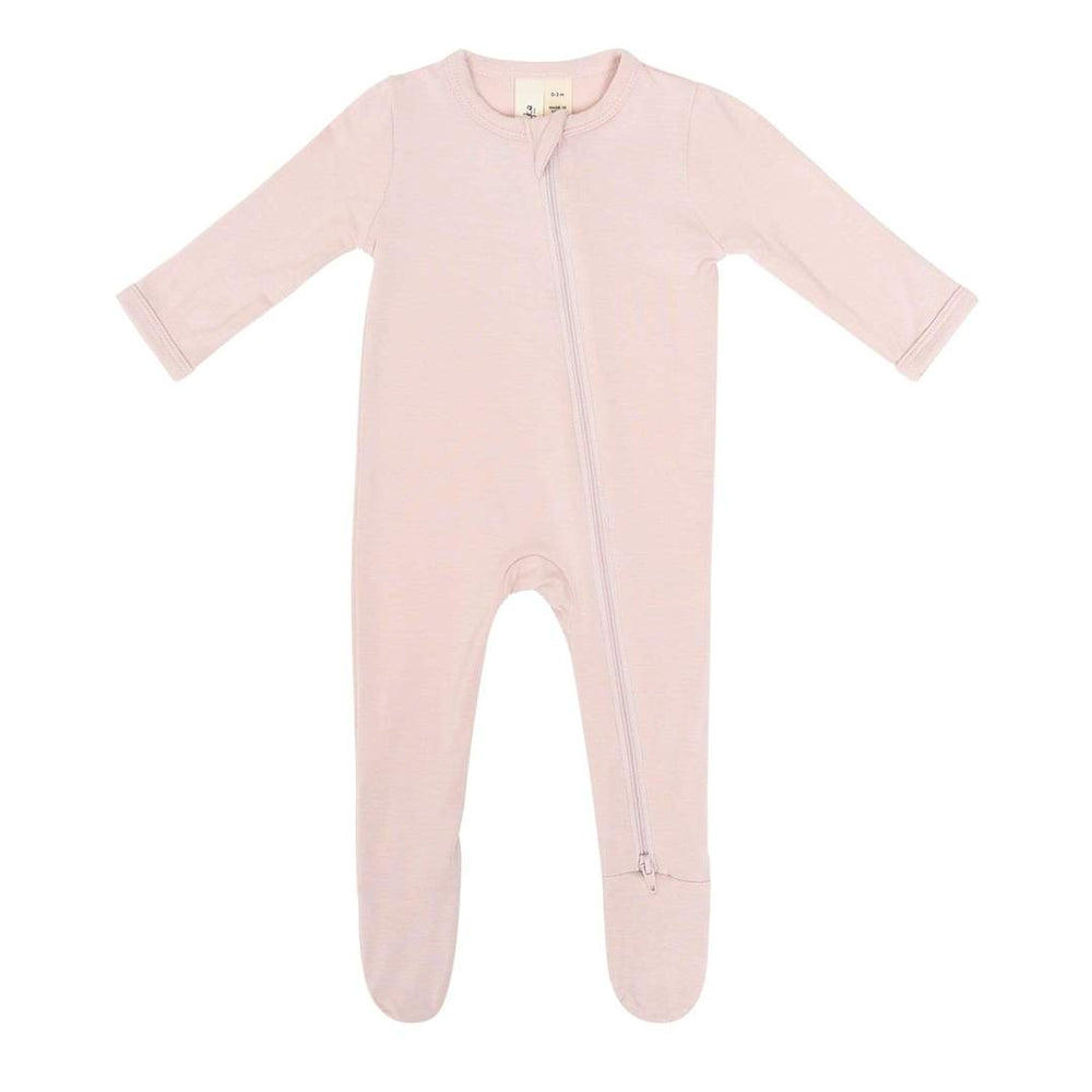 Zippered Footie in Blush