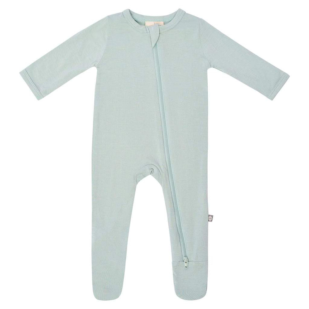 Zippered Footie in Sage Kyte Baby