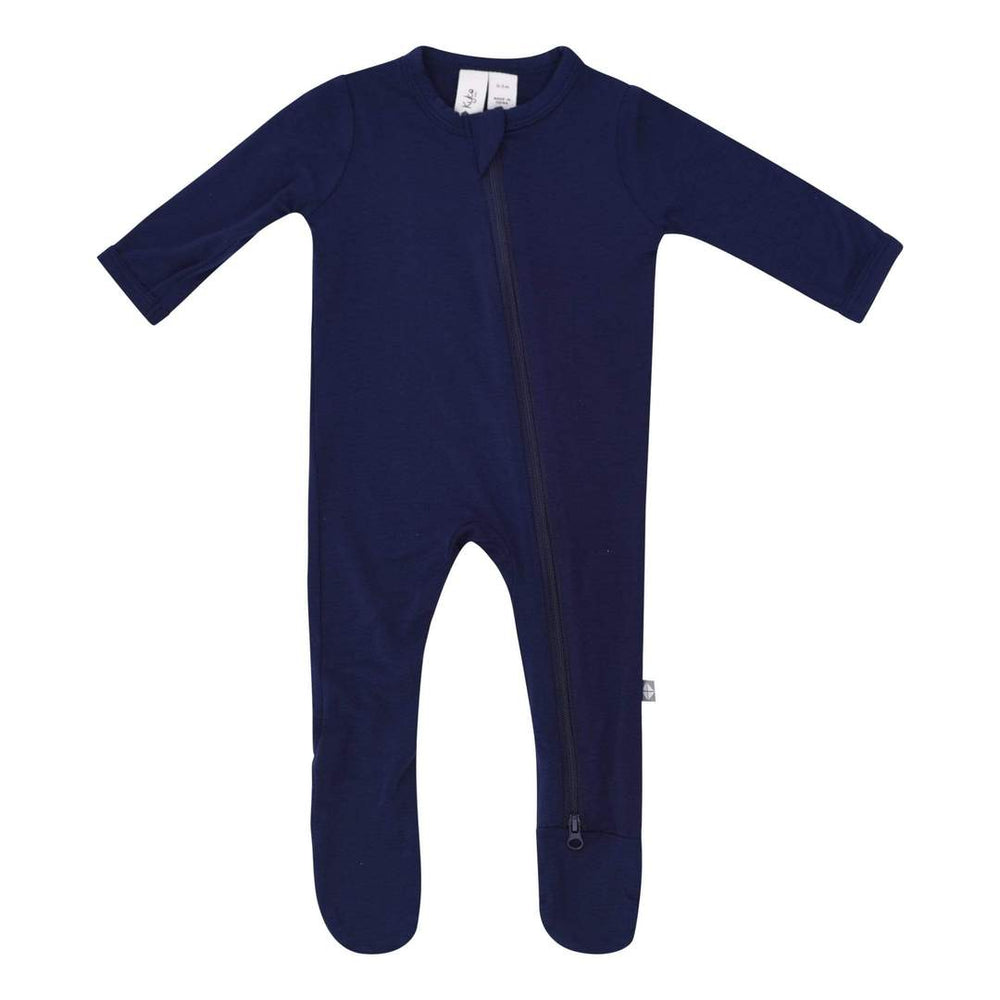 Zippered Footie in Navy