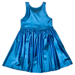 Liza Lame Dress, Blue